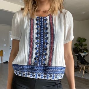 Forever 21 Embroidered Top